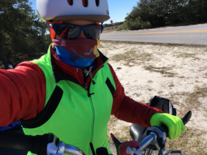 bundled biker